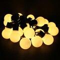 2.5 M 5 M 10 M LED luzes Cordas de Fadas 5 CM Grande Bola LED String Casamento Festa de Natal da Luz do feriado Ao Ar Livre Guirlanda Estrelado luzes