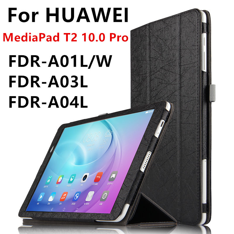 Case For Huawei MediaPad T2 Pro 10.0 Protective cover PU Leather FDR-A01L/W/A03L/a04 Cases T2 pro 10 inch Tablet Protect Covers luxury pu leather flip case stand cover for huawei mediapad t2 10 0 pro fdr a01l fdr a01w fdr a03l a04l full protection covers