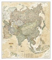National Geographic ASIA Map Modern Canvas Oil Painting Wall Pictures Living Room Wall Art Home Cafe