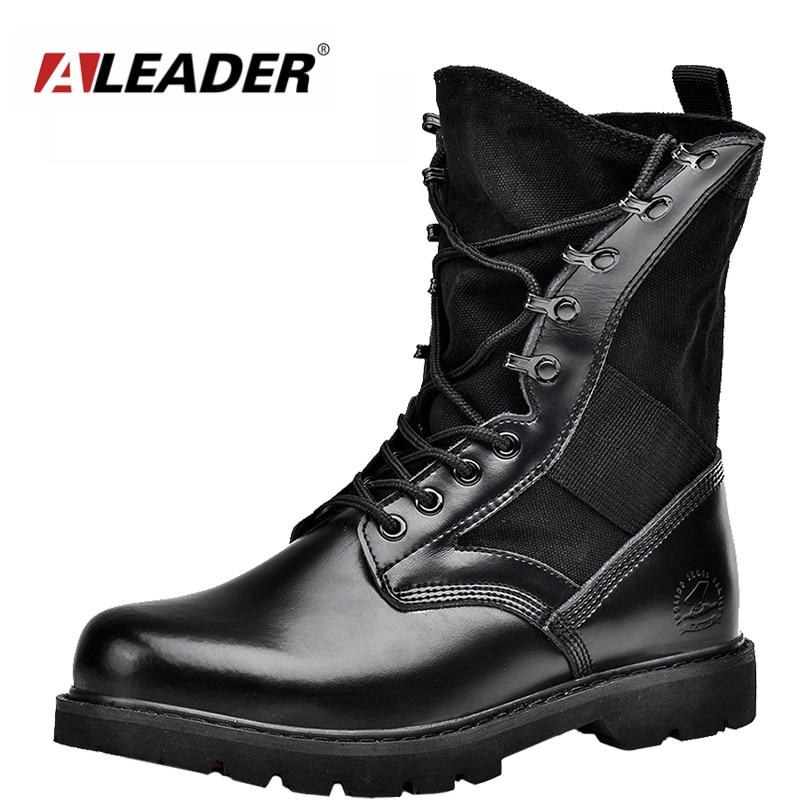 Aleader Waterproof Military Men Boots Winter Men Motorcycle Mid-Calf Martin Casual Boots Outdoor Army Men Fashion Botas Zapatos
