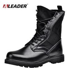 Aleader Impermeable Militar Hombres Botas de Invierno de Los Hombres de La Motocicleta Mitad de la Pantorrilla Martin Botas Zapatos Botas Del Ejército Al Aire Libre de Los Hombres de Moda Casual