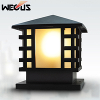 Vintage waterproof acrylic outdoor pillar lamp fence villa parking park gate community garden chapiter lamp column lamp