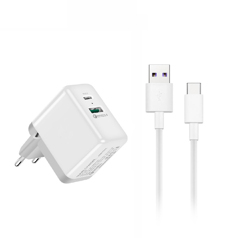 b48979bfe36814 SuperCharge +QC3.0 + PD Fast Quick Wall USB Charger For HUAWEI P30 Pro Mate  20 10 9 Pro Porsche Design P10 Plus Honor 8 V9 V30