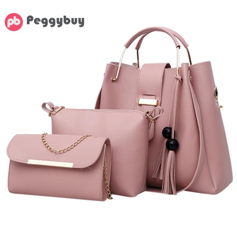 8df51d717b48 3db Női vödör táska Tote PU bőr bokszok Crossbody kompozit táska fém ...