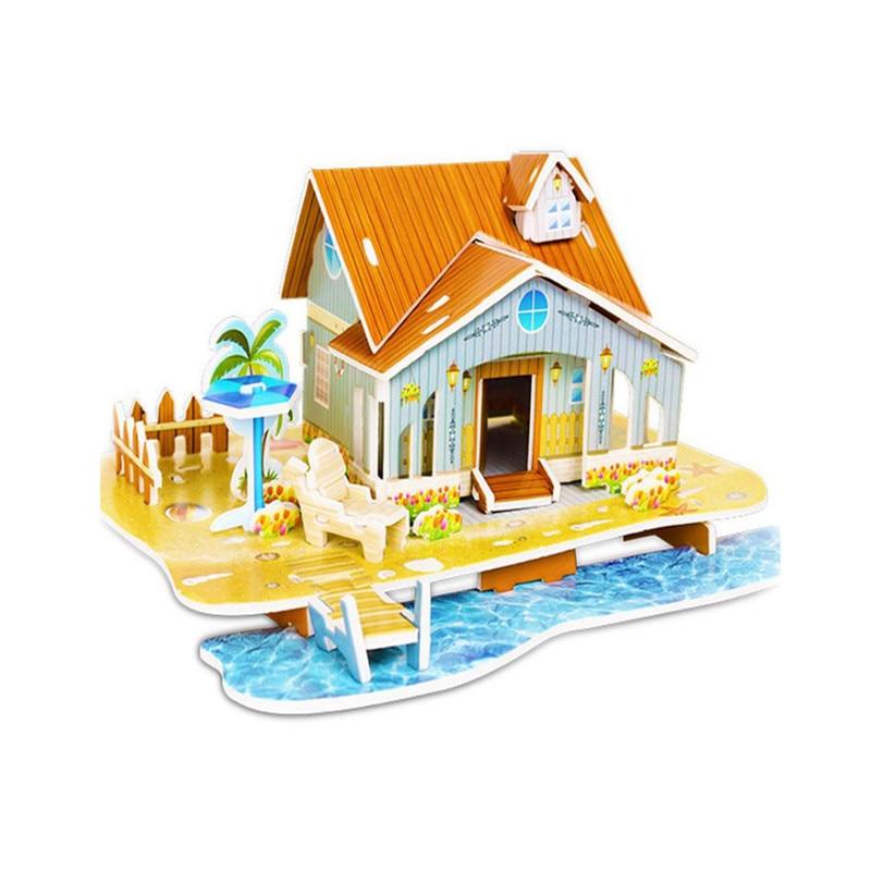 Бумага паззлами раннего обучения Строительная сборка детей украшения дома английские детские игры раннее образование игрушки - Цвет: YJL80928766C