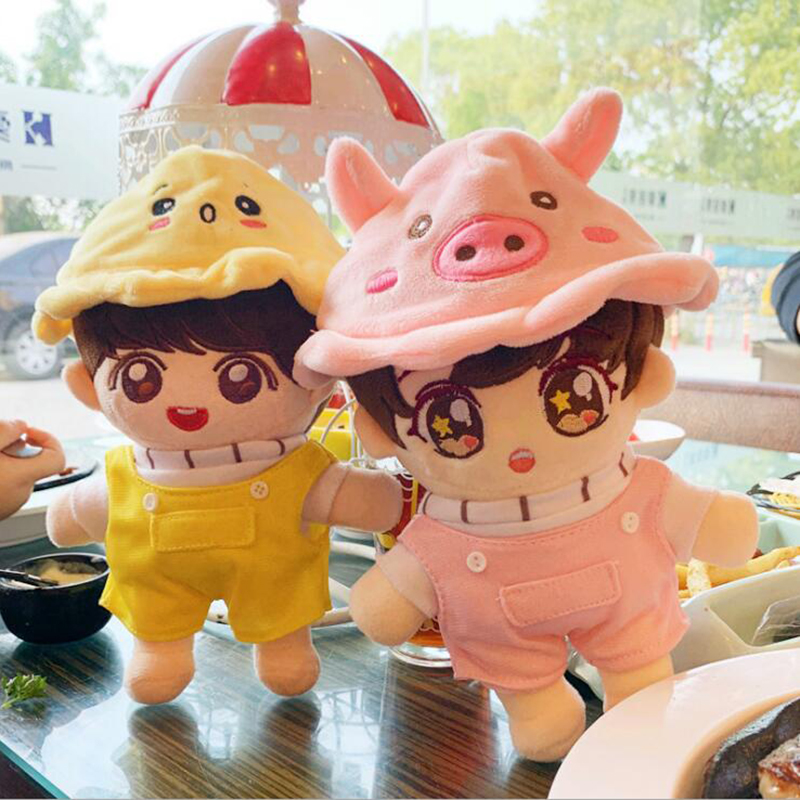 22cm Kpop Doll Hat Clothes Plush Toy Accessories Bangtan Boys Doll Stuffed Toy Vapp Pillow Boys Soft Toy Christmas Gift