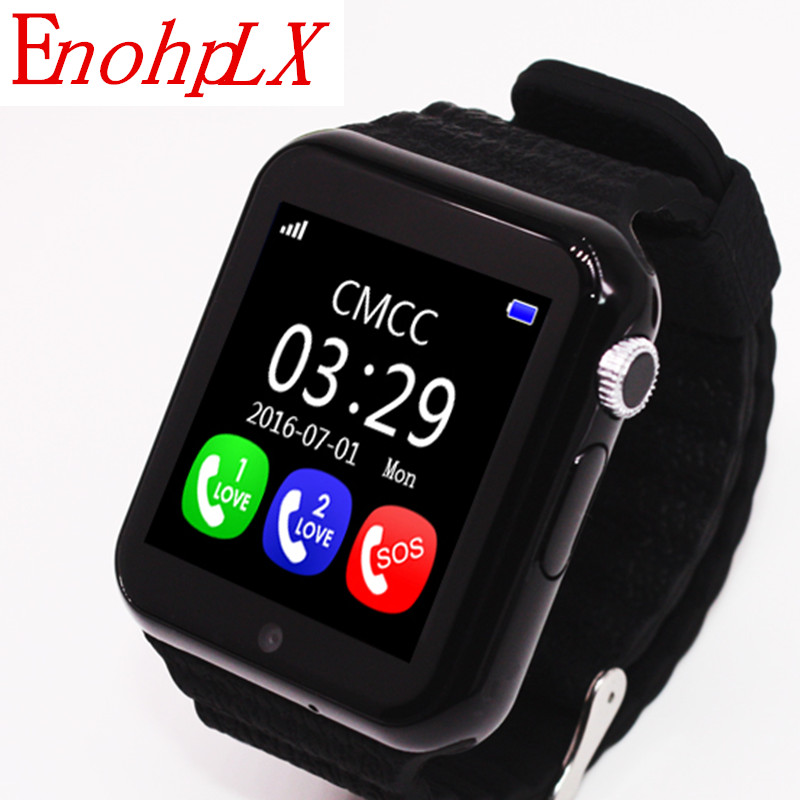 EnohpLX Children Security Anti-lost GPS Tracker Smart Watch V7K 1.54 Screen Kid SOS Emer ...