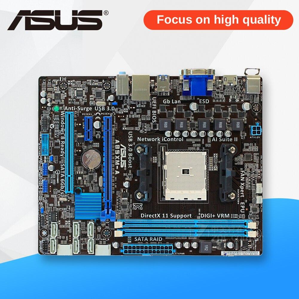 Asus A85XM-A Desktop Motherboard A85X Socket FM2 DDR3 32G SATA3 USB3.0 Micro ATX asus a88xm a motherboard fm2 fm2 ddr3 a88x desktop motherboard mainboard