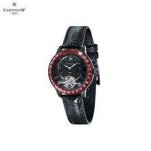 Наручные часы Earnshaw ES-8057-02 женские механические с ручным заводом на кожаном ремешке