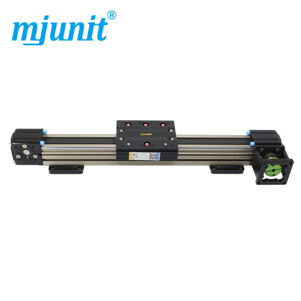 Mjunit 45N Synchronous belt drive linear module nc sliding table shaft rodless triaxial 2 assembly guide cross free combination