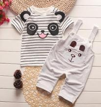 Summer Children Clothing 2019 New Children's Set Cartoon Big Eyes Vest+shorts Boys 2Pcs /Set New Year Costume for a Boy QHX002