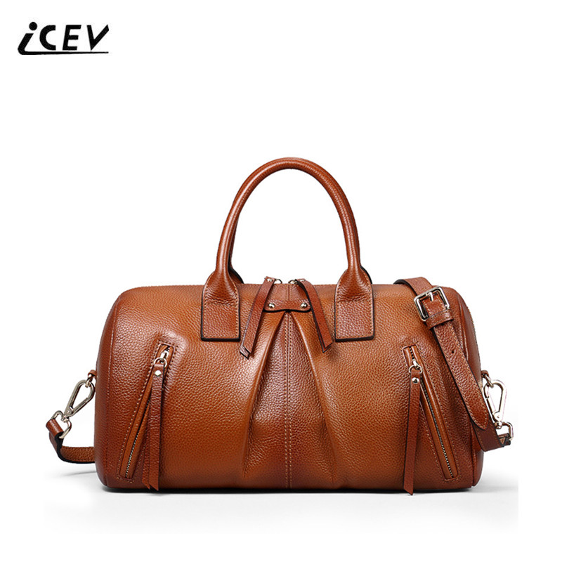 ICEV New Fashion Designer Handbag High Quality Genuine Leather Handbag Women Leather Handbags Ladies Office Totes Top Handle Bag