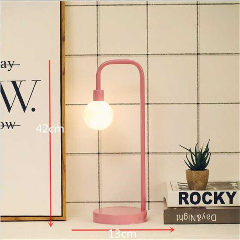 Прямая поставка, минималистичный скандинавский светодиодный Ночной светильник, черный, розовый, Круглый квадратный Треугольный Стиль, украшение для спальни, креативная Ночная лампа