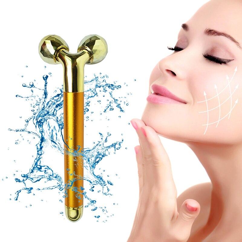 3D Massage Ball 24K Beauty Bar Face Massager Electric..