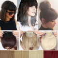 Real Thick 30G Natural Bang Flase Hair Bangs Black Brown Blonde Auburn Red Clip In Hair On Bangs Synthetic Hair Fringe