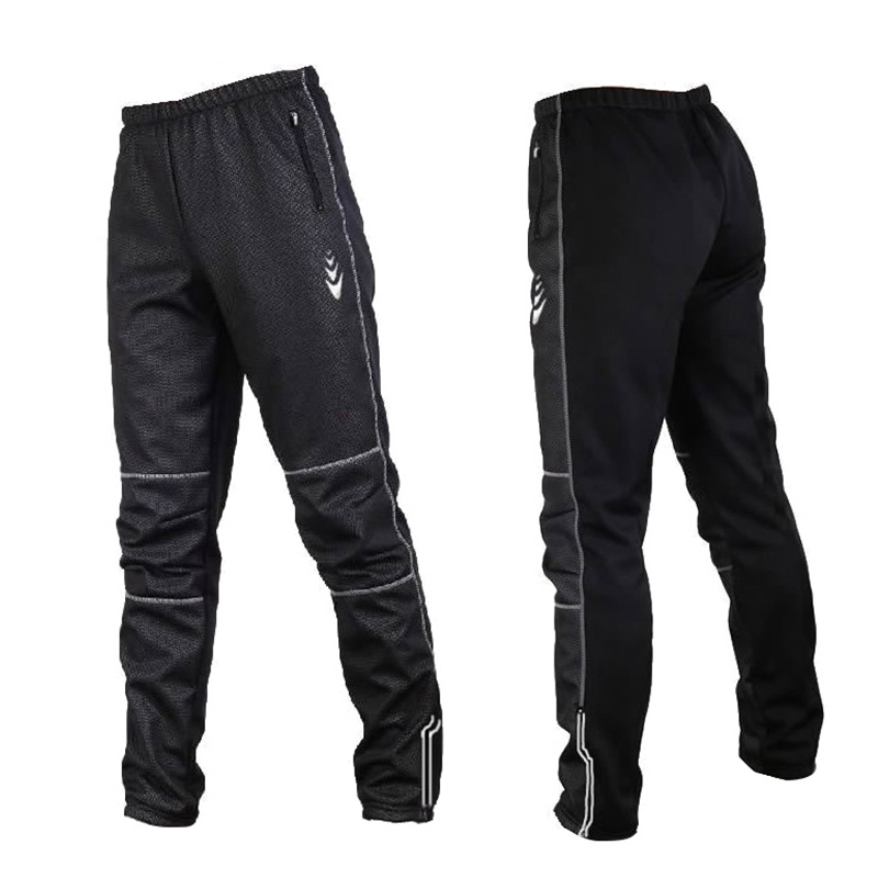 Cycling Pants Men Fleece Thermal Windproof Cycling Long Pants Male Autumn Winter MTB Road Bike Downhill Riding Trousers Tights