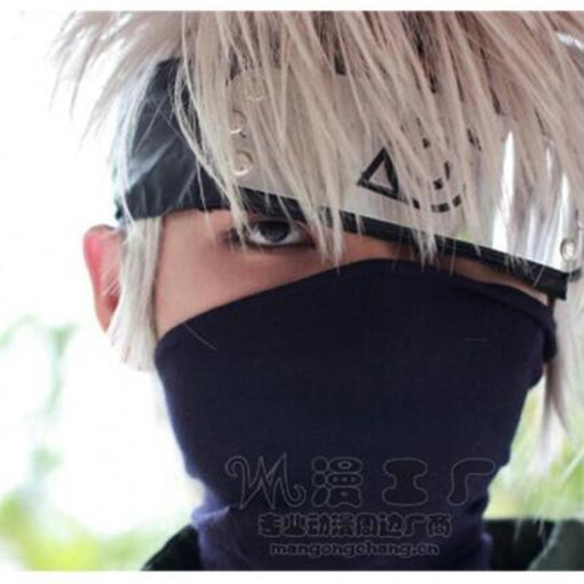 Anime Naruto Kakashi Cosplay Accessories Costume Accessories Common Mask Accessories Zipper Black Cotton Mask