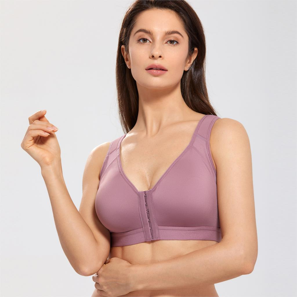 Women's Full Coverage Wire Free Non padded X shape Back Support Front Closure Bra-in Bras from Underwear & Sleepwears