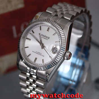 36mm parnis silver dial 21 jewels miyota automatic Luxurious mens watch P788 - DISCOUNT ITEM  31% OFF All Category