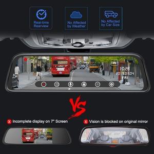 "Image 4 - Junsun H16 New Tech 2.5D FHD 1296P Stream Media RearView Mirror DVR Dual lens Dash Camera 10"" IPS Night Vision Parking Monitor"