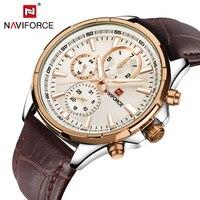 Top Luxury Brand NAVIFORCE Men S Watch Fashion Casual Quartz Wristwatches 24 Hour Display Waterproof Clock