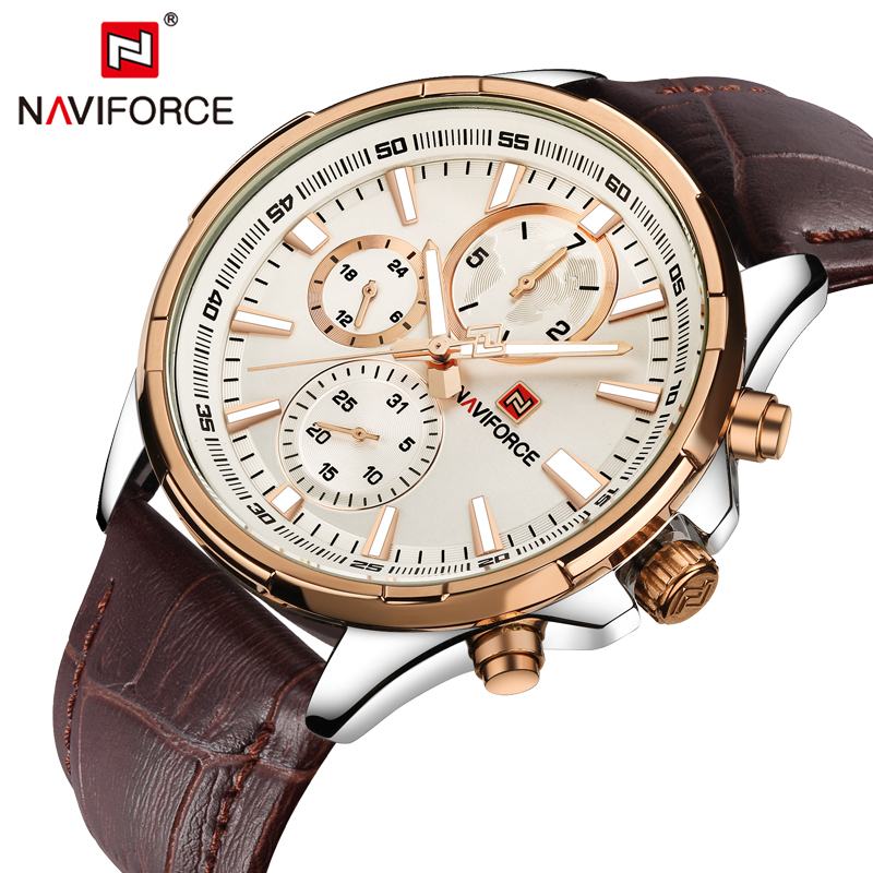 Top Luxury Brand NAVIFORCE Men's Watch Fashion Casual Quartz Wristwatches 24 hour Display Waterproof Clock Man Relogio Masculino