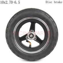 10 x 2.70-6.5  Tire Tyre With Wheel Hub for Balancing 2-wheel Scooter Electric Scooter 10 Inch Unicycle Hoverboard self balancing electric unicycle scooter black eu plug