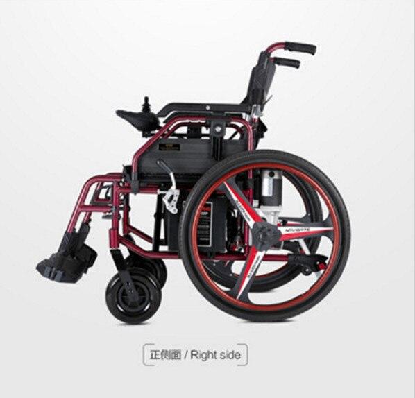 Fuerte capacidad plegable silla de ruedas eléctrica con batería de litio