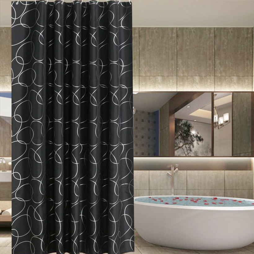 Solid Color Shower Curtain Toilet Partition Waterproof Mildew Sshower Curtain 180CM Casa/Viaggi/Hotel Tenda Della Doccia D40