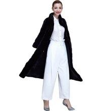 Large size S-6XL coat female winter 2016 coat female imitation fox fur rex rabbit fur grass faux fur coat long section mink fur