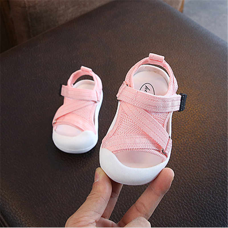 adfe39d76e215 DIMI 2019 Summer Infant Toddler Shoes Baby Girls Boys Toddler Sandals  Non-Slip Breathable Soft Kid Anti-collision Shoes