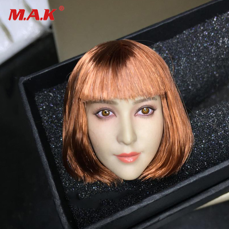 1/6 BingbingFan Blink Short Hair Female Head Sculpt For 12 Action Figure Collection Doll Toys Gift 1 6 headplay figure head model brown long hair female head sculpt 12 action figure collection doll toys gift