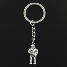 Fashion 30mm Key Ring Metal Key Chain Keychain Jewelry Antique Silver Plated NASA universe astronaut 31*13*6mm Pendant(China)