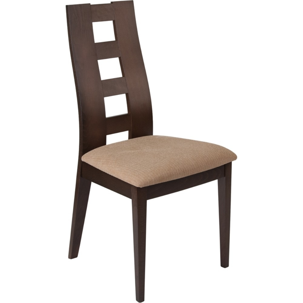 Walnut Window Pane Cutout Back Wood Dining Chair batwing sleeve back cutout cropped tee