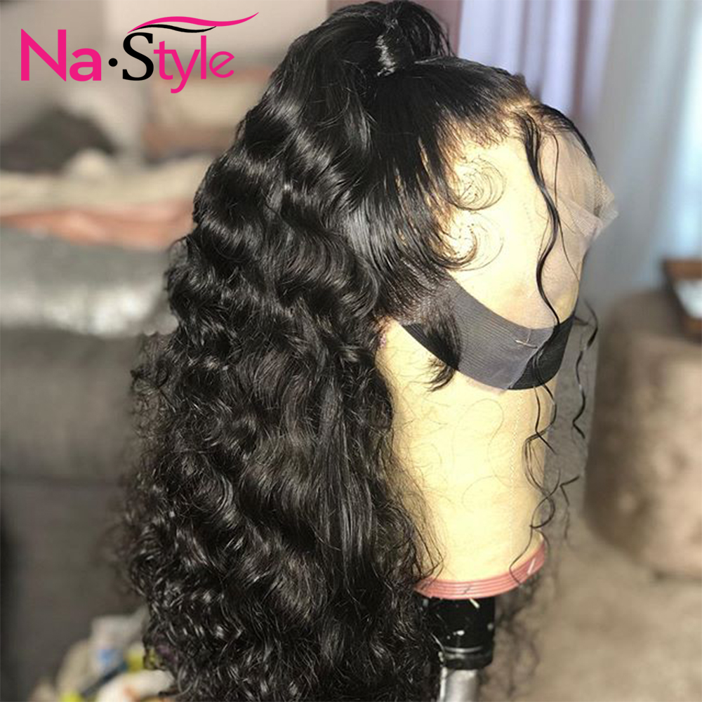 HD Transparent Invisible Lace Wig 360 Lace Frontal Human Hair Wigs Curly Long Preplucked Bleached Knots Natural Peruvian Remy - 6