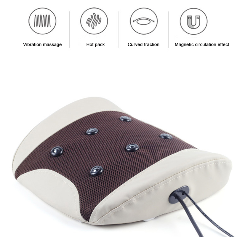 Waist Massager Physiotherapy Instrument Moxibustion Hot Lumbar Disc Cushion Back Massager Multifunction Electric Traction  WaistWaist Massager Physiotherapy Instrument Moxibustion Hot Lumbar Disc Cushion Back Massager Multifunction Electric Traction  Waist