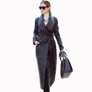 Новая осенне-зимняя куртка женская одежда Европейская натуральная кожа куртка из овечьей кожи пальто винтажные пуховики размера плюс Z990