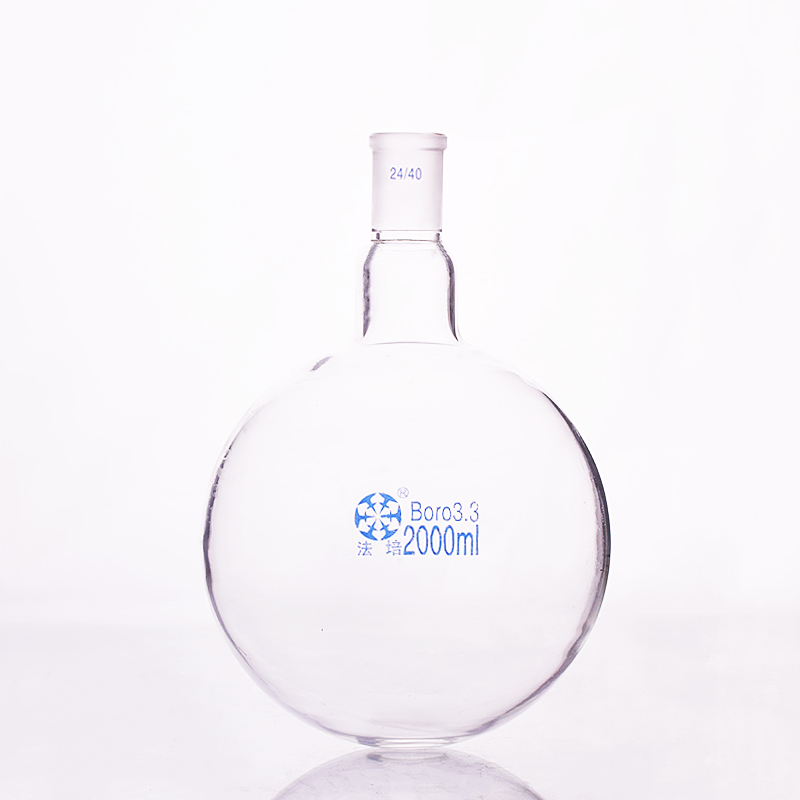Single Standard Mouth Round-bottomed Flask,Capacity 2000ml And Joint 24/40,Single Neck Round Flask