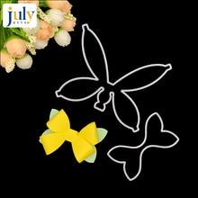 Julyarts 2pcs Wedding Bow Bowknot Metal Cutting Dies Scrapbooking Stitched Stencil Embossing Die
