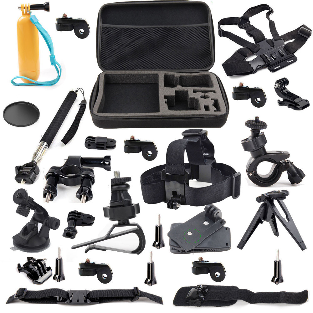 JACQUELINE for Outdoor Sports Accessories Kit for Sony Action Cam HDR AS30V AS300 AS100V AS50 AS200V FDR-X100V/W 4K AZ1 Mini dz chm1 clip head mount kit for sony action camera fdr x1000v hdrr as200v hdr az1vr hdr as100v
