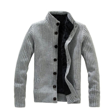Fashion collar warm thick knitting men jacket, long sleeved sweater men, sweater for men, Free shipping MWK022