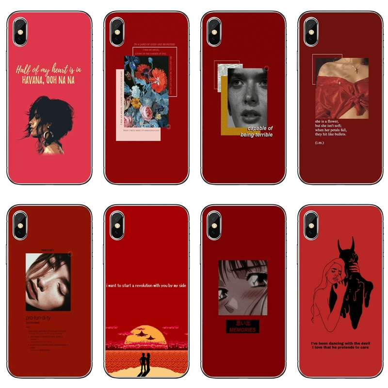 Red Doodles Aesthetics Quotes For Huawei Honor 10 9 Lite 8
