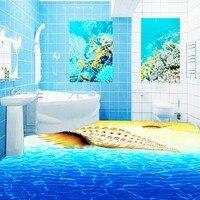 Ücretsiz Nakliye Plaj kabuk 3D stereo döşeme duvar kağıdı oturma odası parkı dekoratif su geçirmez zemin duvar