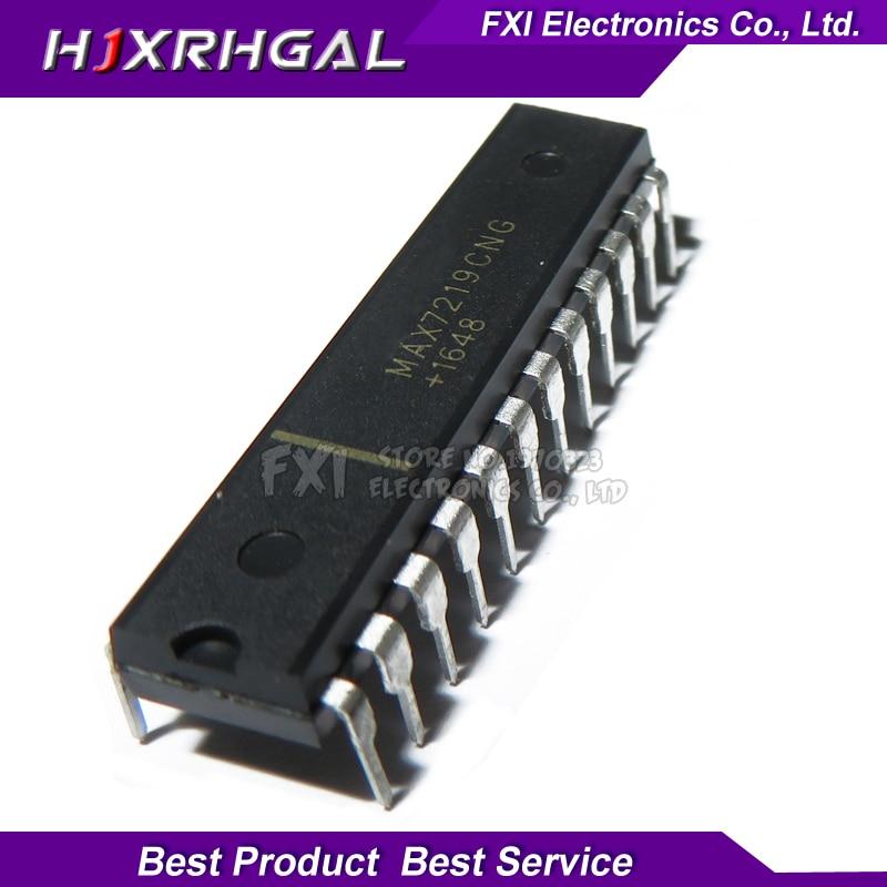 5pcs IC MAX7219CNG MAX7219 DIP-24 DRIVER LED DISPLAY 8DGT DIP