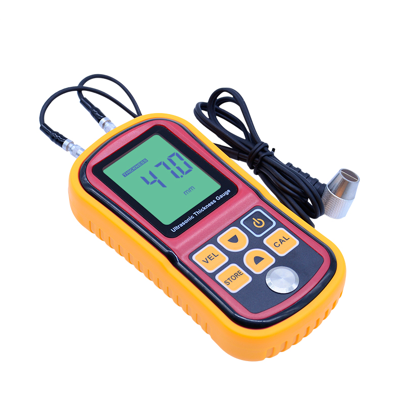 Free Shipping Digital Ultrasonic Thickness Meter Tester Gauge Metal Tester 1.2-220mm GM100 exploit high precision 0 01mm profession digital lcd display thickness gauge meter paper leather fabric thickness tester