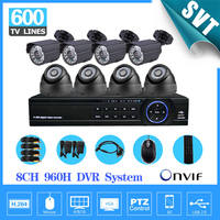 Home Video Surveillance Security Camera System 600TVL 8ch 960H Cctv HDMI 1080P USB 3G WIFI DVR