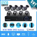 Home video segurança vigilância sistema de câmera 600TVL 8ch 960 H cctv HDMI 1080 P USB 3 G WIFI DVR kit gravador de vídeo 8 canais