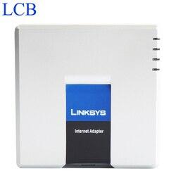 500 pcs Desbloqueado Linksys PAP2T/PAP2T-NA Adaptador para Telefone VoIP com 2 Portas FXS Telefone telefone com caixa original