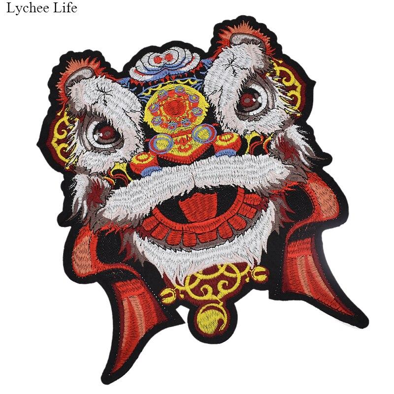 Пластырь для одежды Lychee Life, Большой пластырь для танца льва и тигра, 25 см, для самостоятельной сборки, шапка, пальто, аксессуары для платья, тк...