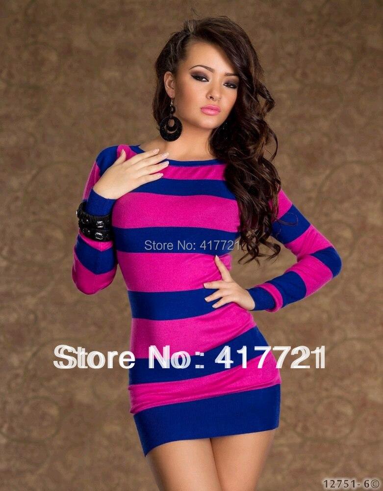 Free Shipping Ml17731 Sexy Club Wear Fashion Pink And Blue -9487